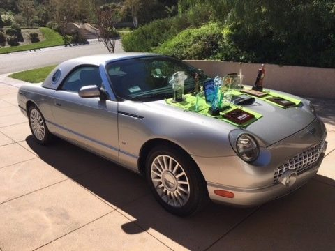 2004 Ford Thunderbird Premium Silver & Sand 7,800 Miles Concours winner for sale