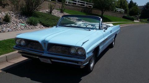 1961 Pontiac Bonneville Convertible PHS Card Matching #'s 389 Tri Pwr 4 Speed for sale