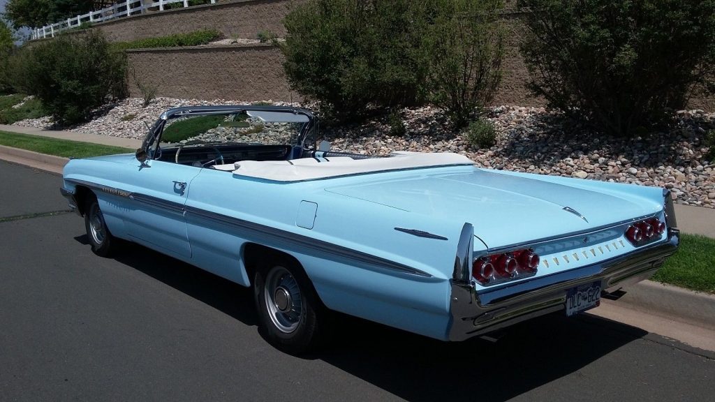 1961 Pontiac Bonneville Convertible PHS Card Matching #'s 389 Tri Pwr 4 Speed